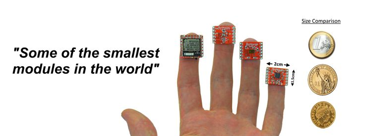 Some of the smallest DIY modules in the world  http://igg.me/at/miniwear.