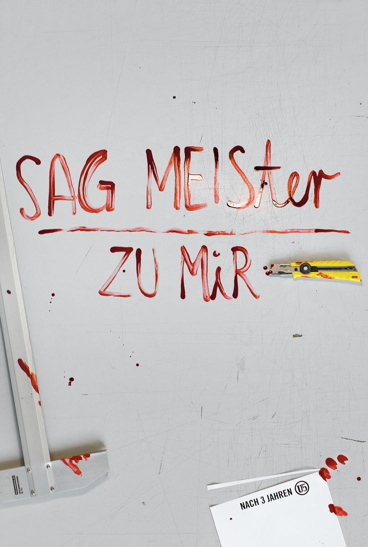 """Read more: https://www.luerzersarchive.com/en/magazine/print-detail/akademie-an-der-einsteinstrasse-u5-munchen-61570.html Akademie an der Einsteinstrasse U5, Munchen Poster ad promoting Stefan Sagmeister's speech at the Munich/ Vienna Forward Festival. The headline, which is written in real blood, alludes to one of Sagmeister's works and is a German pun on the famous graphic designer's name, translating literally – when thus divided – as """"Call me Master."""" Tags: Hans-Peter Albrecht,Akademie…"""