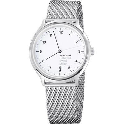 Mondaine Helvetica No1 Regular Swiss watch with Sapphire crystal