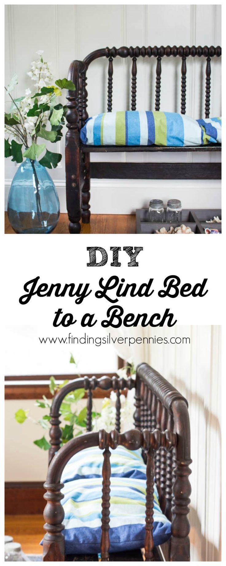 How to Turn a Jenny Lind Bed into a bench