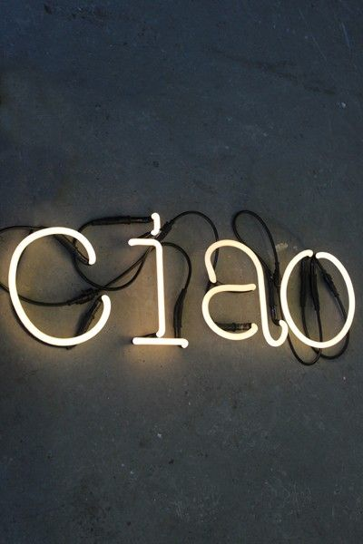 CIAO LED Neon Light - View All - Art