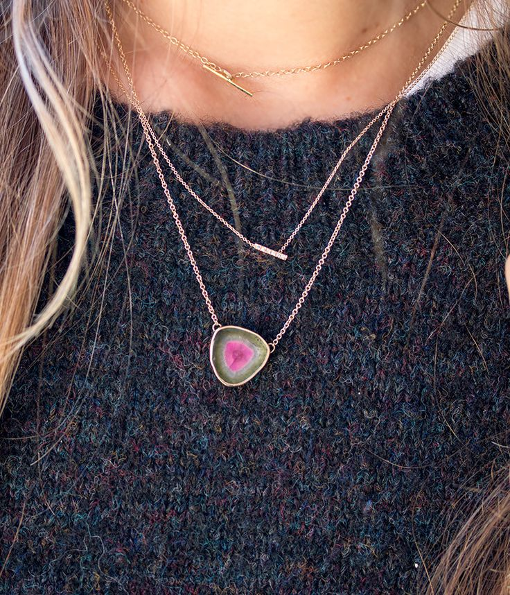 Tie Dye Tourmaline Necklace - Audry Rose