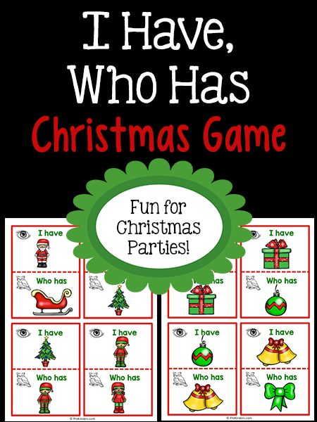 """I Have, Who Has"" Christmas Game"