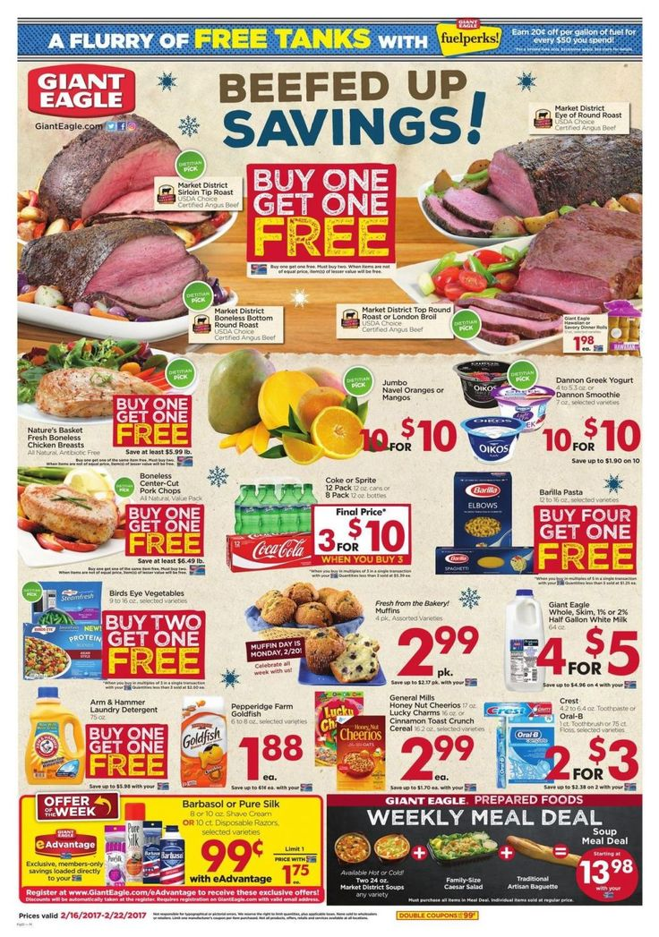 Giant Eagle Weekly Ad Circular Feb 16 - 22 United States #Grocery #GiantEagle