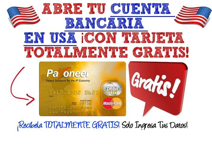 Como Conseguir Gratis Una Tarjeta Mastercard y Una Cuenta Bancaria en los Estados Unidos | Negocio En Internet www.rafaelolazar.com