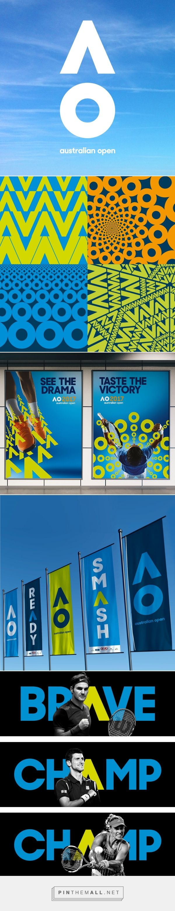 Brand New: New Logo and Identity for Australian Open by Landor Australia... - a grouped images picture - Pin Them All