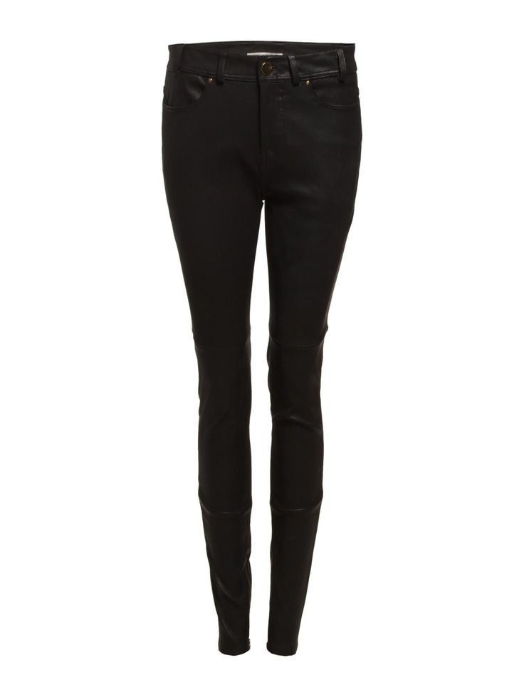 DAY - Night Densely Belt loops High-waisted Skinny fit Lambskin
