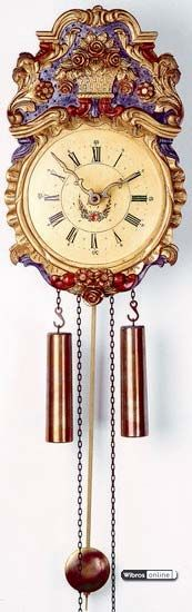 Antique replica clock 8-day-movement 35cm by Rombach & Haas - 7303