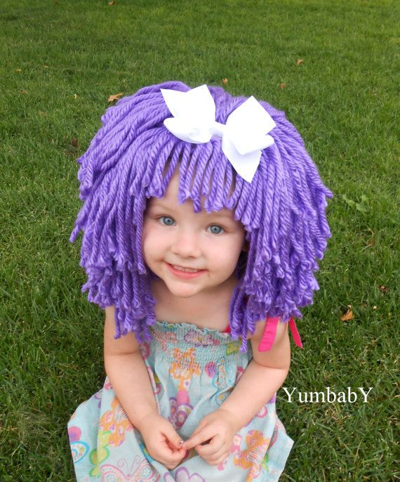 Purple Wig Halloween Costume for Girls Toddler Costumes by YumbabY, $29.95