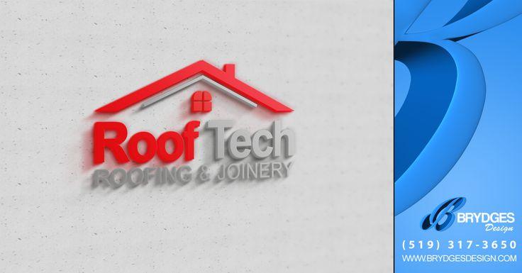 Roof Tech Final Logo Design Www.brydgesdesign.com | Logos | Pinterest |  Logos