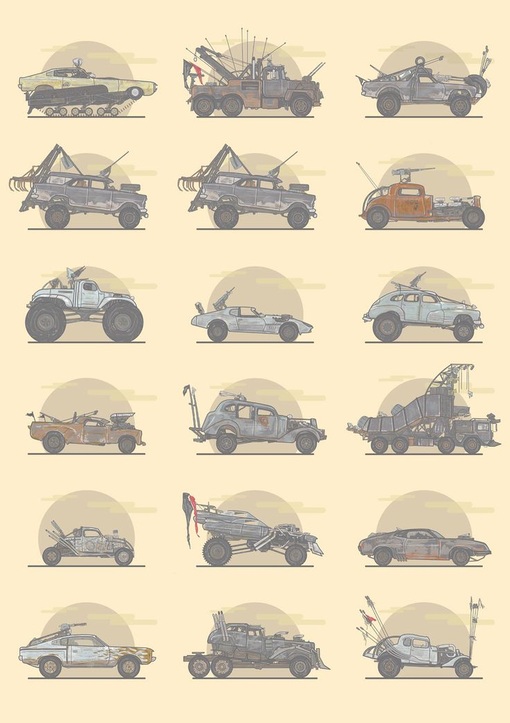 Mad Max: Fury Road Machines - Created by Stuart Shaw
