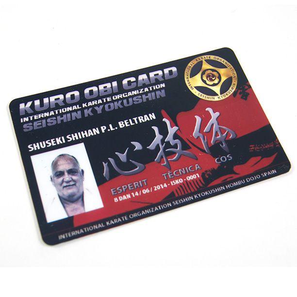#tarjetapvc #personalizada #tarjeta #pvc #fidelity #fidelizacion #club #asociacion #karate #kyokushin
