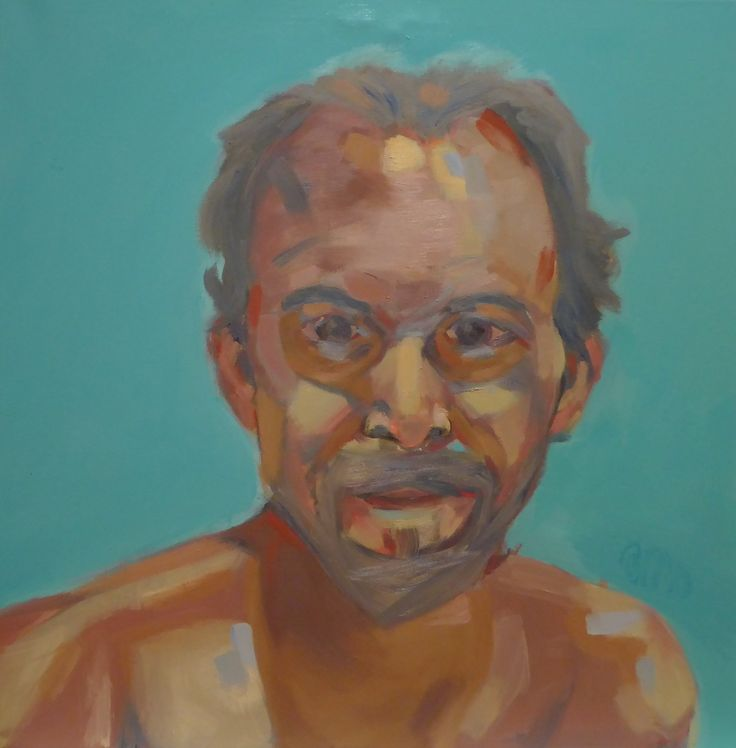 óleo sobre lienzo, auto retrato 60x60 04/2017