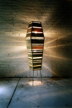 This piece is finely hand-crafted from found wood, including crate wood and pallets.: Design Inspiration, Metaform Studio, House Designs, Woods, Mancave Ideas, Conga Light