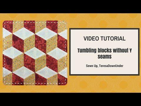 Diy Tumbling Blocks Coasters Tutorial With Free Pattern