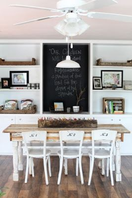 Joanna Gaines's Blog | HGTV Fixer Upper | Magnolia Homes love the numbers on th back of the chair.