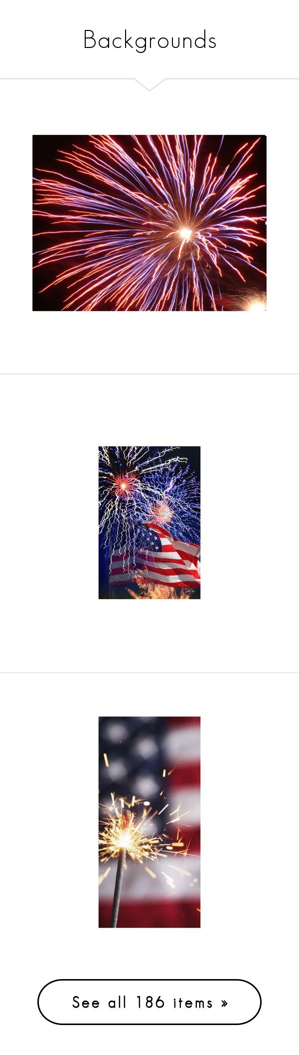 """Backgrounds"" by eclectic-es ❤ liked on Polyvore featuring backgrounds, pictures, pics, fireworks, 4th of july, beauty products, makeup, lip makeup, old navy and polaroids"