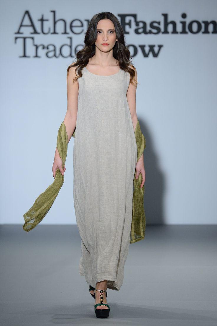 Eclectia:Amazing natural linen long dress  100% Natural fabrics