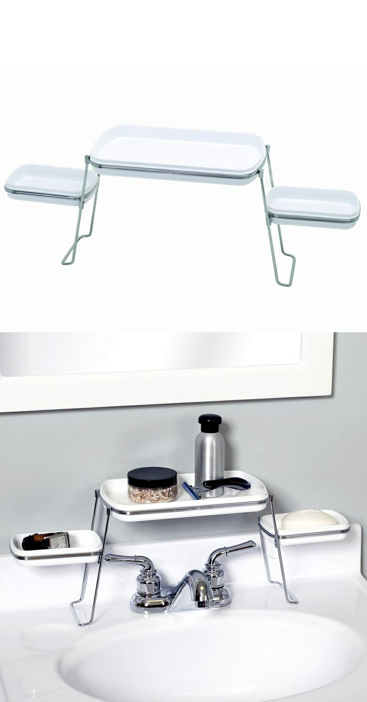 Small Spaces Over the Faucet Shelf - clever organizer! #product_design