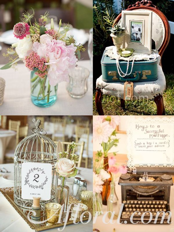 These vintage wedding decorations are great ideas for your vintage event! #weddingdecorations #vintagewedding #vintage decor