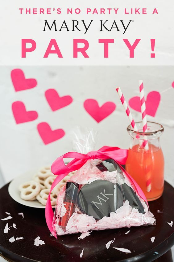 Host a party for the ones you love with sweet treats and drinks, and don't forget the DIY gift bags filled with festive makeup! | Mary Kay