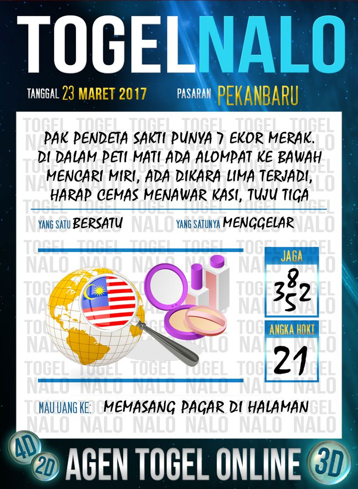 Kode Angka 4D Togel Wap Online TogelNalo Pekanbaru 23 Maret 2017