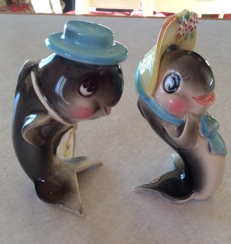 Vintage Norcrest Ceramic Fish with Hats Salt Pepper Shakers Japan | eBay