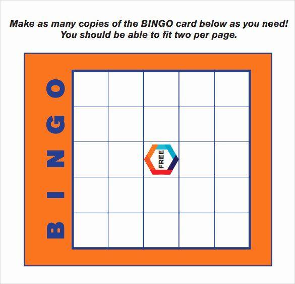 Free Bingo Card Template Lovely Sample Bingo Card 11 Documents In Pdf Word In 2020 Bingo Card Template Free Bingo Cards Card Templates Free