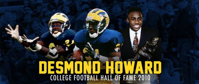 College Football Hall Of Fame Member Desmond Howard