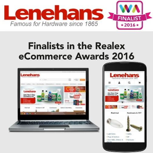 Lenehans selected as a Finalist for the Realex Payments Web Awards 2016