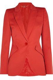 Alexander McQueen Μαλλί-κρέπα blazer