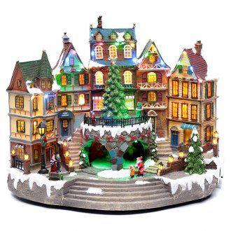 Scena natalizia musicale con luci 30x40x25 cm | vendita online su HOLYART