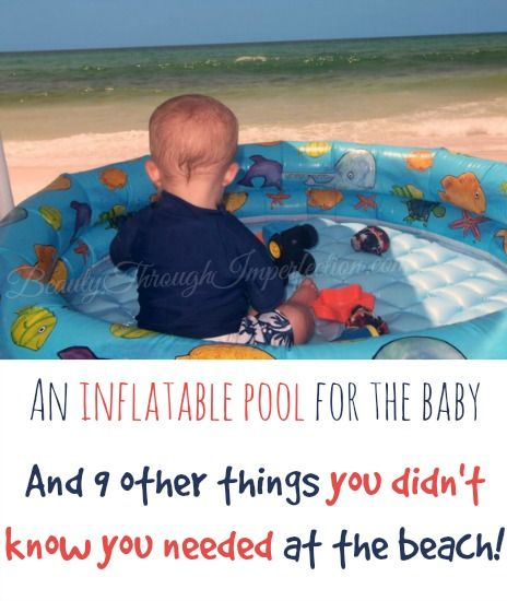 Things you didn't know you needed at the beach -- these are so smart! The pool thing is absolutely genius! 9 more great tips in the post!