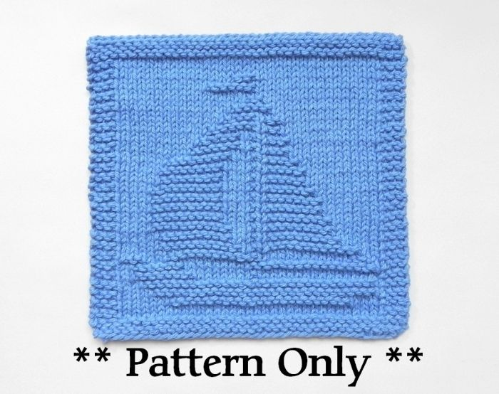Sailboat Knit Pattern Nautical Nursery Gift For Sailor