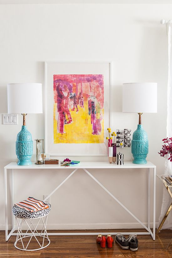 Bri Emery S New Living Room Designed By Emily Henderson Shot Laure Joliet Entryway Console Style