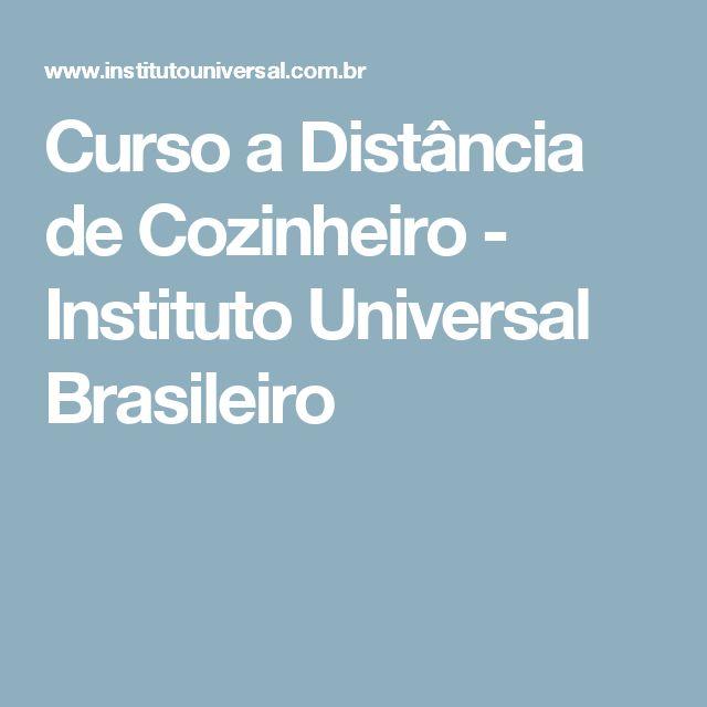Curso a Distância de Cozinheiro - Instituto Universal Brasileiro