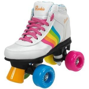 Patin A Roulette ROOKIE ROLLERS ROOKIE FOREVER RAINBOW BLANC