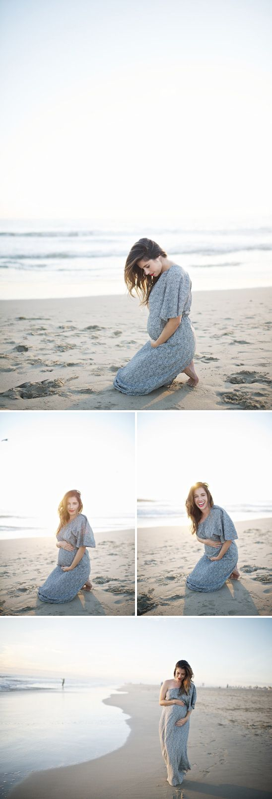LOVE. I would die to have pictures like this at the beach. Hate the dress though..looks like a hospital gown.