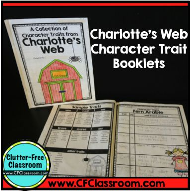 Charlotte's Web Character Traits Activity {RL.2.3, RL.3.3, RL.4.3, RL.5.3 Reading Unit}