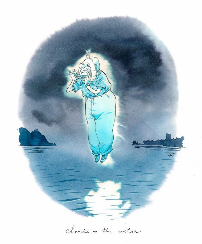 """Zep, Claude on the Water, série limitée à 5 ex, 2014 Série réalisée en exclusivité pour Janus Gallery dans le cadre de l'exposition """"Zep à Montreux"""". Tirage Laurent Cochet."""