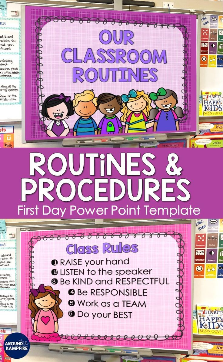 Back to School First Day PowerPoint Template EDITABLE | Back
