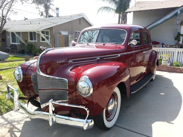 Autotrader classics 1940 dodge deluxe sedan burgundy 6 for 1940 dodge 4 door sedan