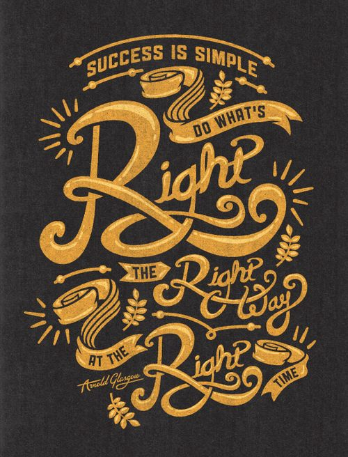 Success is simple #Quotes #Typography