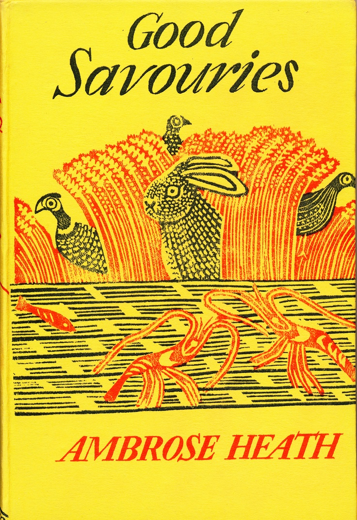 Edward Bawden Linocut cover design for Good Savouries by Ambrose Heath