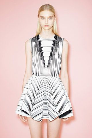7/9/13: Peter Pilloto's black-and-white optical illusion, at Resort. #LookOfTheDay