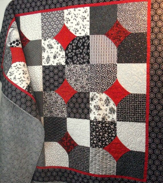 black, white, and red quilt I would do green instead of red though!!