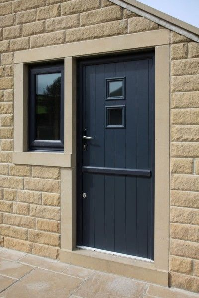 Naples composite stable door from the Italia Collection in Anthracite Grey.