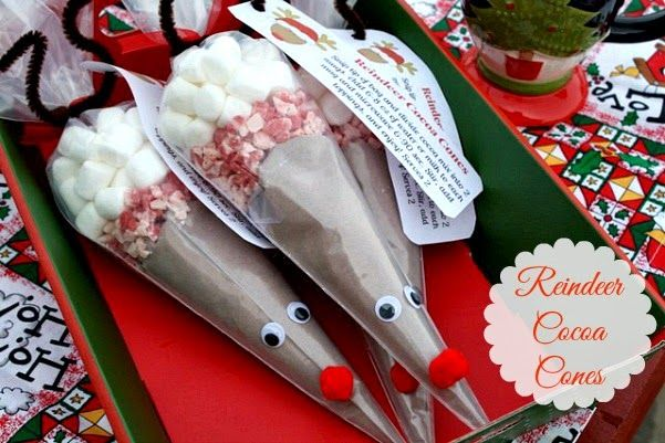 Mommy's Kitchen - Home Cooking & Family Friendly Recipes: DIY Reindeer Cocoa Cones {Great Gift Idea}