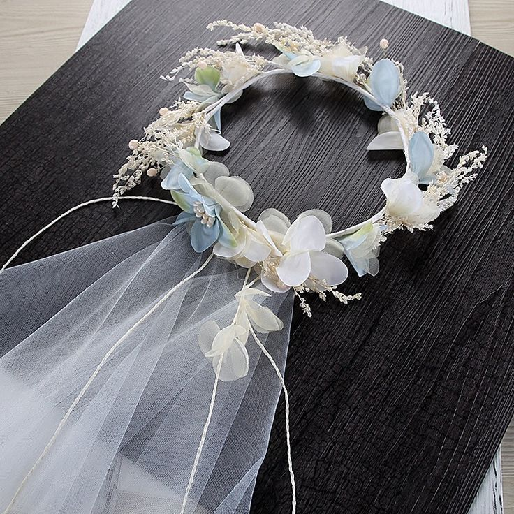 Korean garland with veil bride wedding hair ornaments beach wedding hair decoration for girls and brides-in Hair Jewelry from Jewelry & Accessories on Aliexpress.com | Alibaba Group