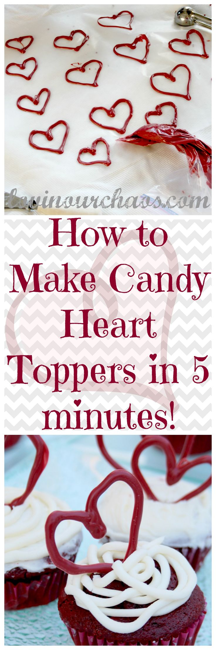 How to Make Candy Heart Toppers